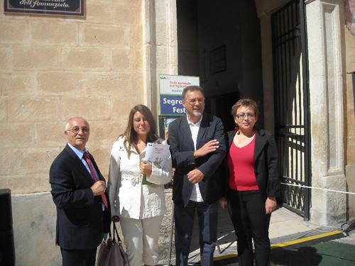 Da sinistra, Gianpaolo Necco, Geppina Landolfo, Iranna De Meo e Mimmo Vita