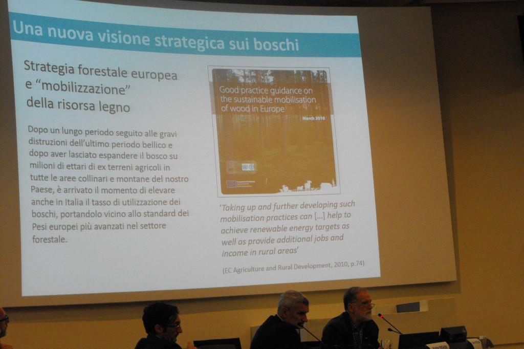 L'intervento di Giustino Mezzalira, direttore del settore foreste di Veneto Agricoltura
