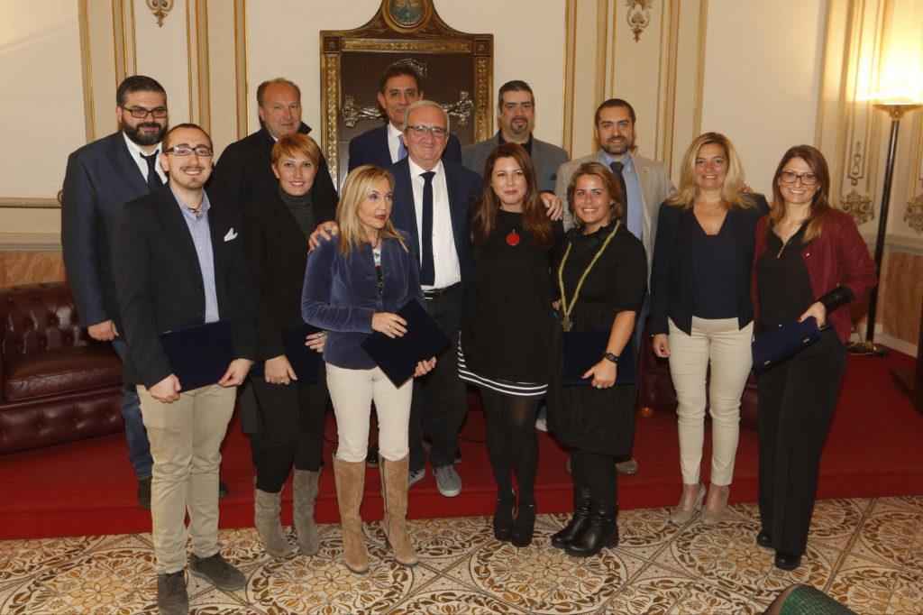 I premiati della V edizione del premio giornalistico Francesco Landolfo