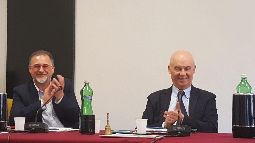 Nella foto, da sinistra: il past president Mimmo Vita e il nuovo presidente Unaga, Roberto Zalambani